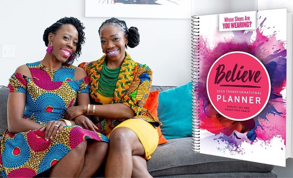 Julian and Christine authors of the book Whose Shoes Are You Wearing have a new 2020 Planner: the Believe Planner