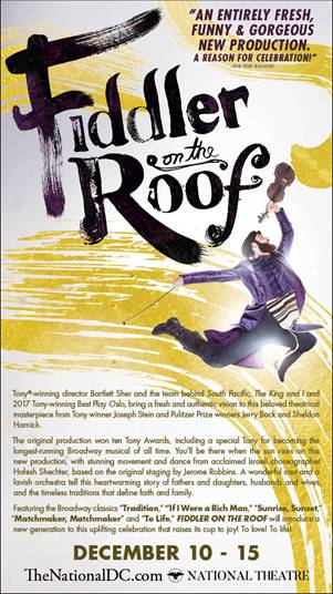 Fiddler on the Roof at the National Theater in DC #fiddlerontheroof #fiddlertour2019