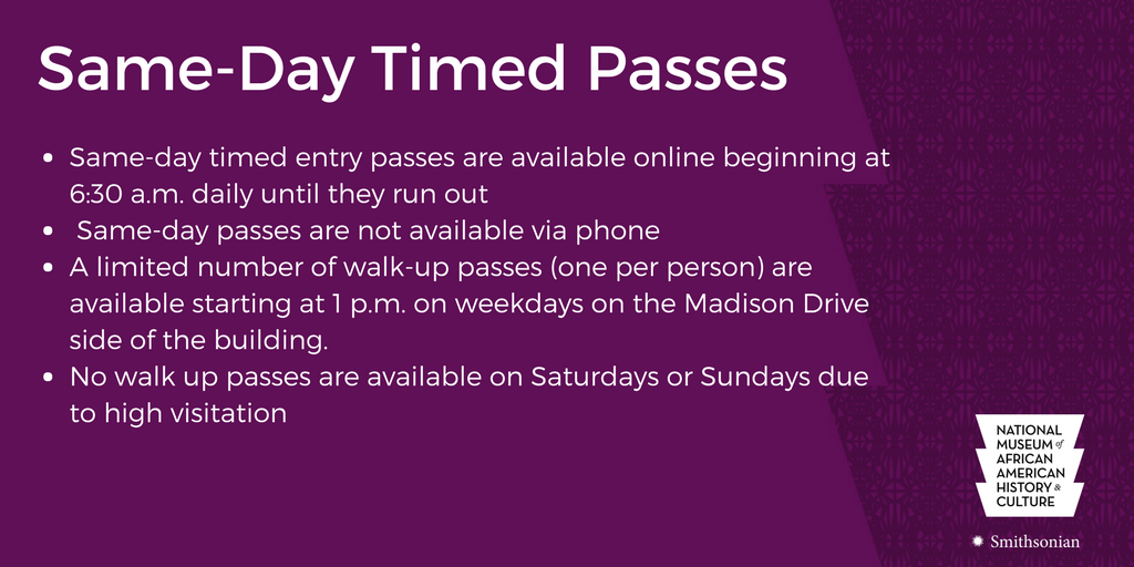 Same Day Timed Passes