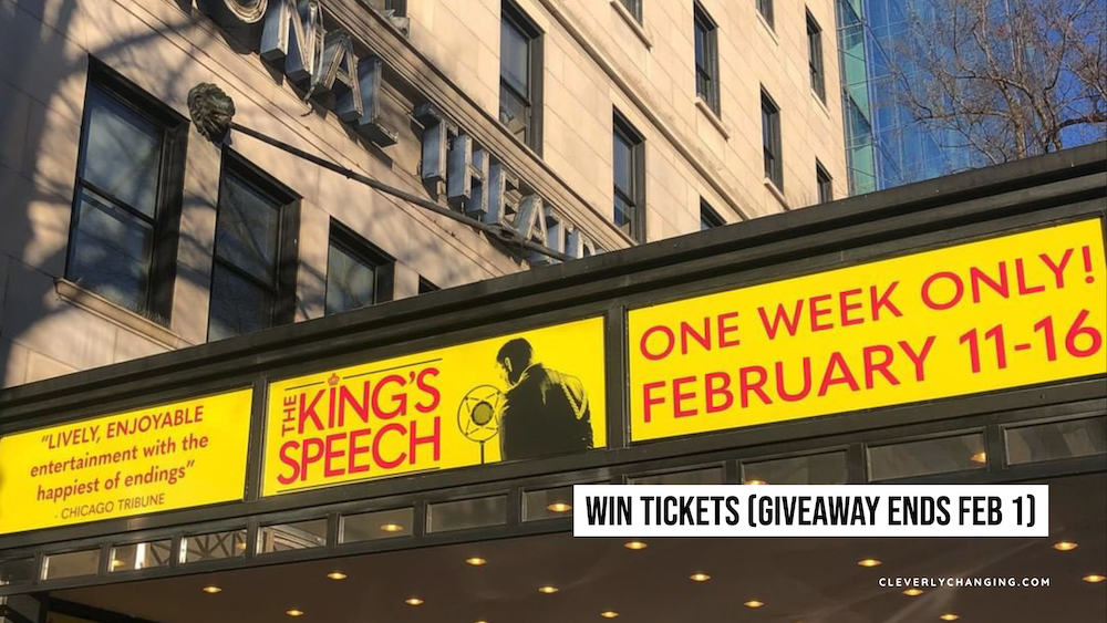 The King's Speech | Live Performance at the National Theatre. Win tickets on CleverlyChanging.com
