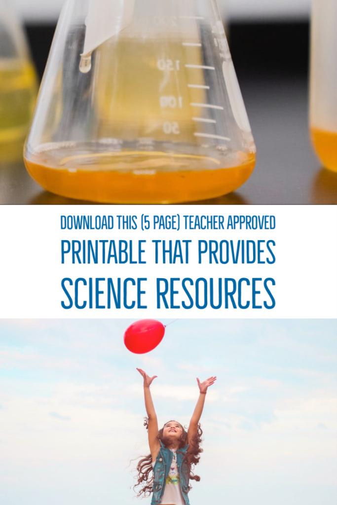 Download this (5 page) teacher approved printable that provides science resources