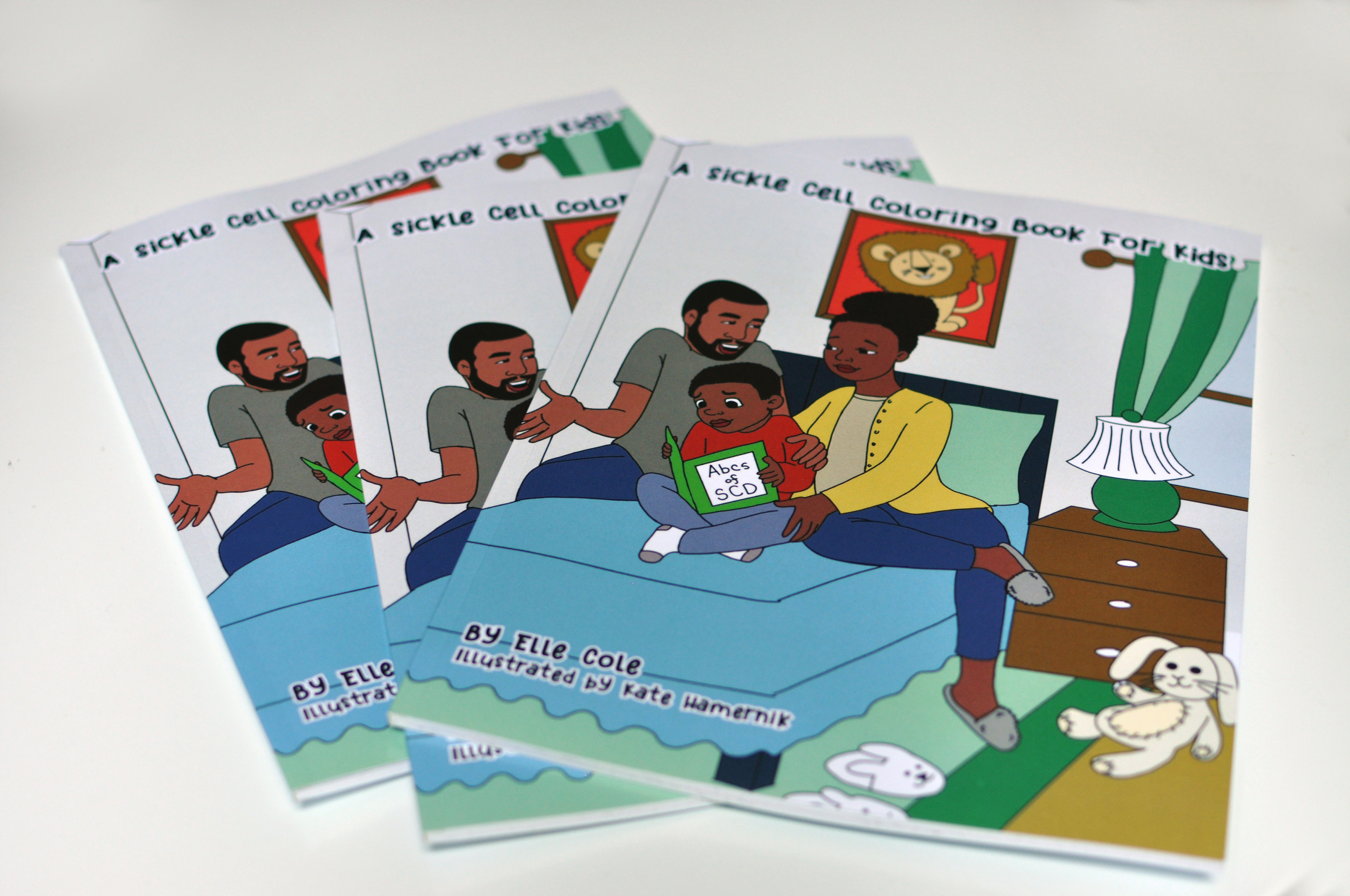 The Sickle Cell Coloring book for Kids was written for children ages 5-8. It is an educational resource for parents, caregivers, and children. The book breaks down terms and concepts for children who were diagnosed with sickle cell disease (SCD).