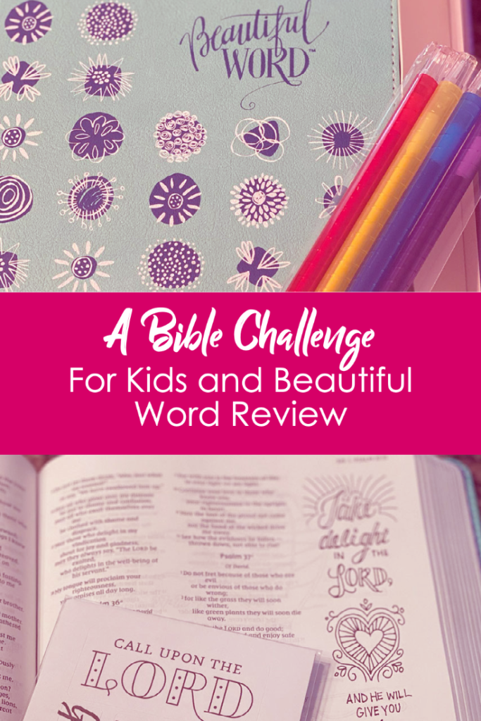 A Bible Challenge and Coloring Bible for Girls