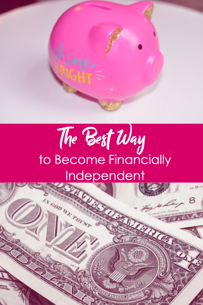 The Best Way to Become Financially Independent | piggy bank and money