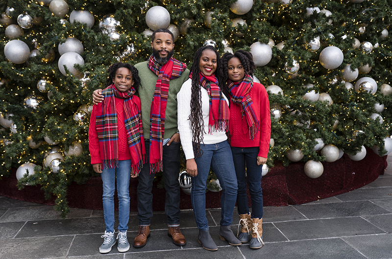 Black Family Christmas picture