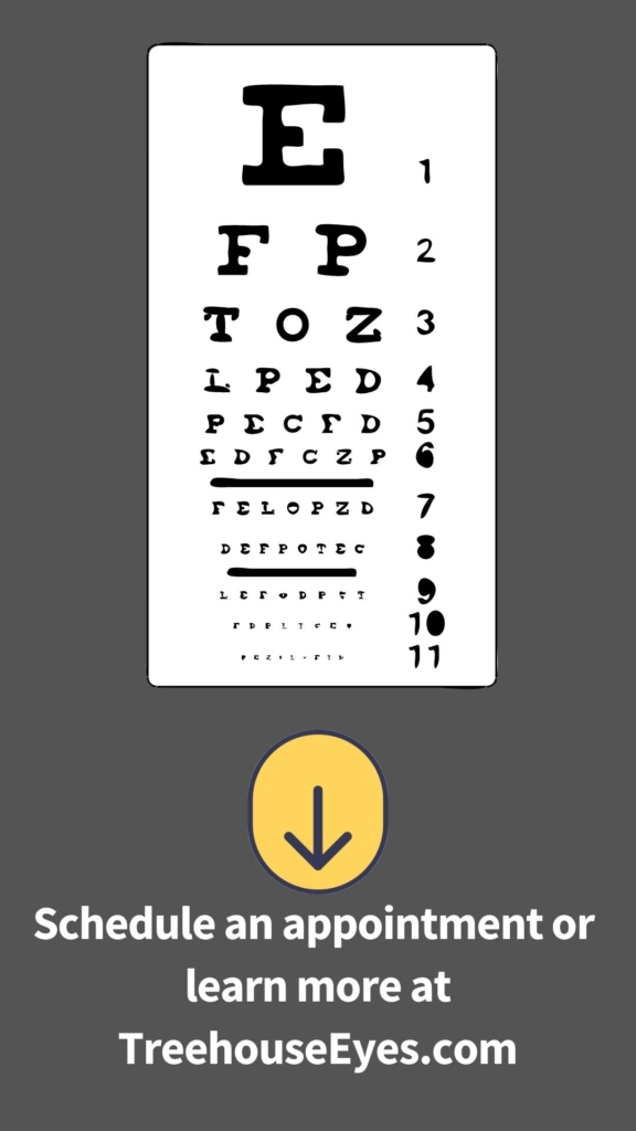 Schedule an appointment with treehouse eyes to determine if you have myopia (nearsightedness)