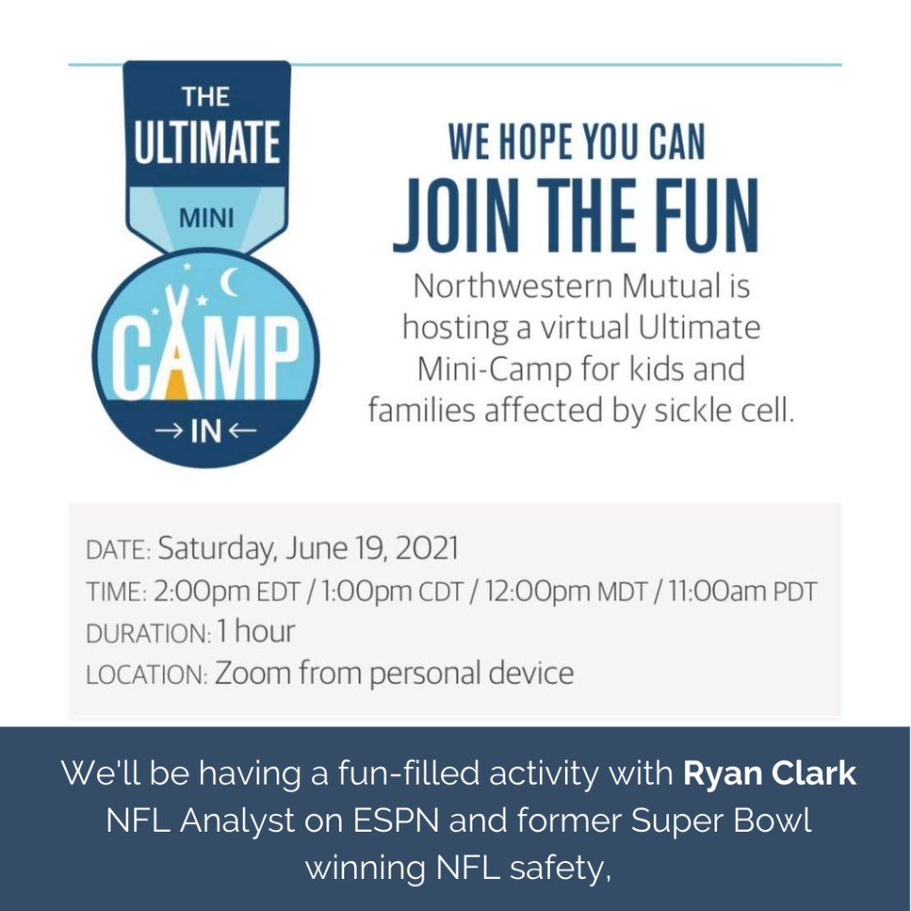 Northwestern Mutual Flyer for the World Sickle Cell Day Mini Camp